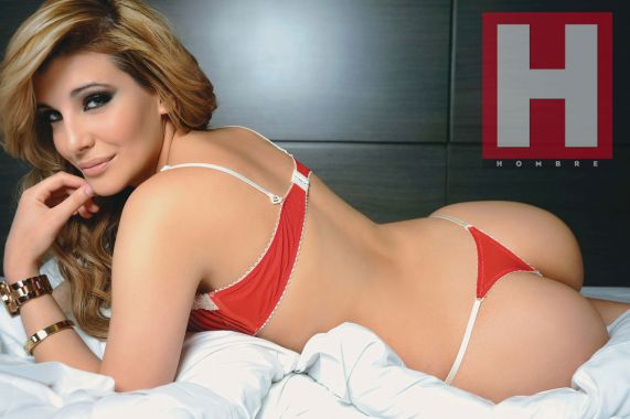 Charlotte Caniggia En Revista Hombre  Las Fotos Del Esc  Ndalo
