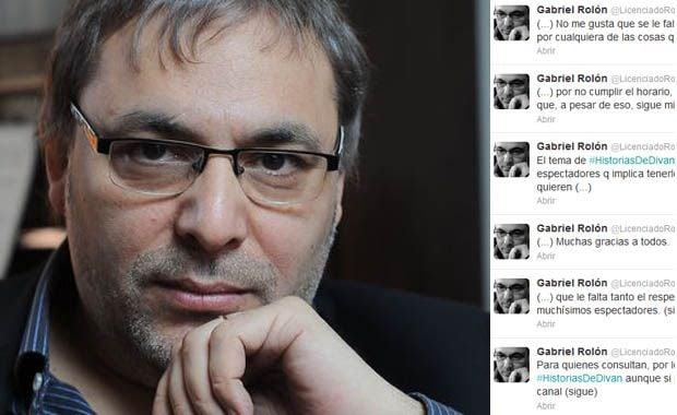 Gabriel rol n molesto con telefe por el cambio de horario for Divan quien fuera el