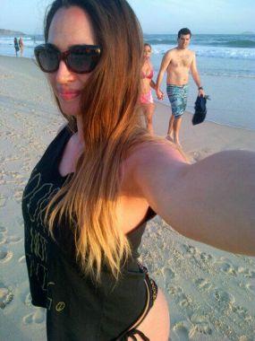 Gallardo y Francese de vacaciones en Río de Janeiro