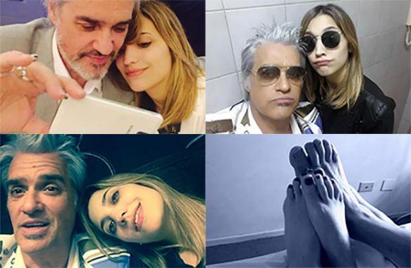 Las selfies de Pettinato y su novia