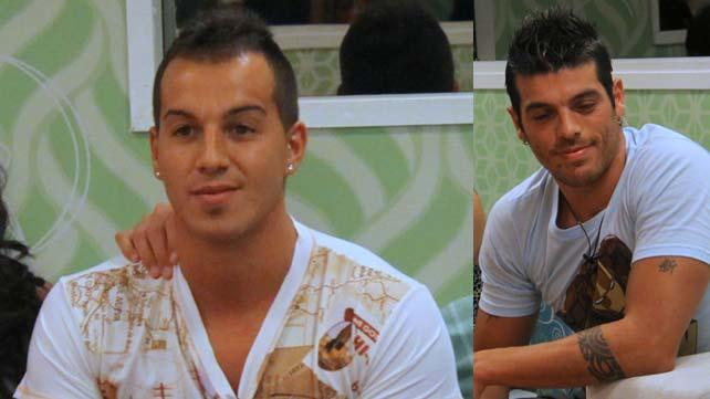 Emanuel Di Gioia y Cristian Urrizaga, rivales en Gran Hermano 2011. (Foto: Telefe)