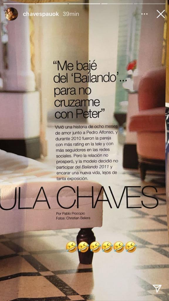 Paula Chaves recordó con humor su tapa de revista hablando ¡de cuando se separó de Pedro Alfonso!