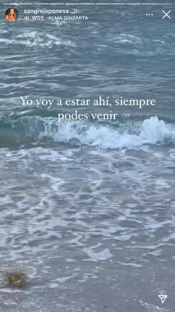"""La emoción de China Suárez frente al mar de Miami, donde arrojaron las cenizas de Sofía Sarkany: """"Tu magia está cerca"""""""
