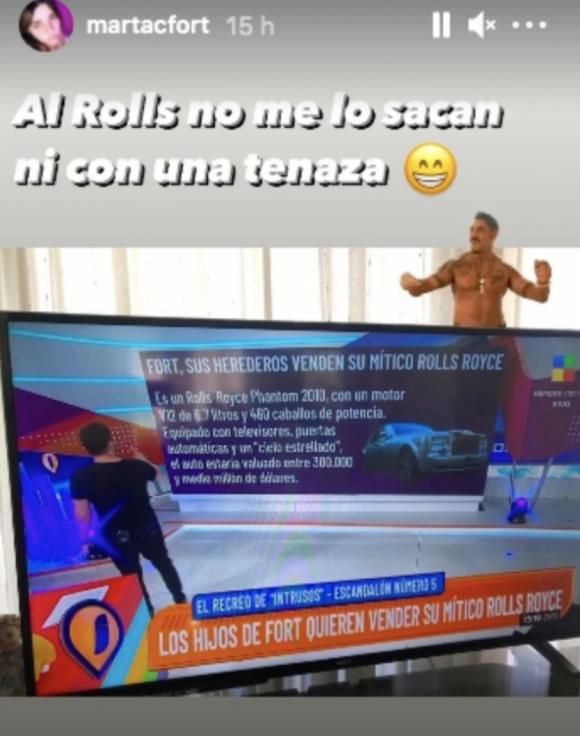 """Martita Fort desmintió la venta del icónico Rolls-Royce de Ricardo: """"No me lo sacan ni con una tenaza"""""""
