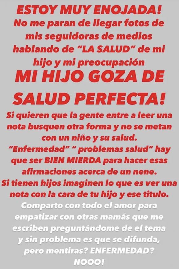 """Juana Repetto negó que Toribio tenga un problema de salud, tras mostrarse preocupada por sus caries: """"¡Estoy muy enojada!"""