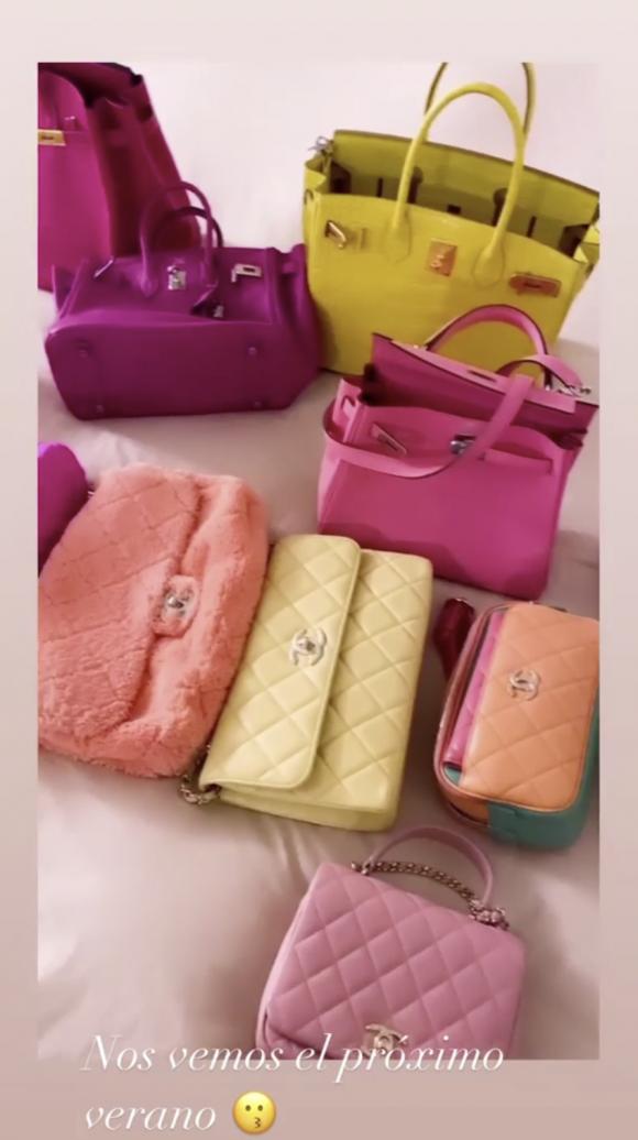 """Wanda Nara mostró su inmensa y costosa colección de carteras de marcas de lujo: """"Estas son las de verano"""""""