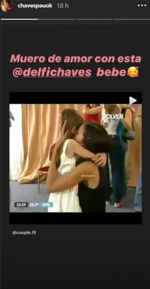 """El tierno video retro de Paula y Delfina Chaves que emocionó a la conductora: """"Muero de amor"""""""