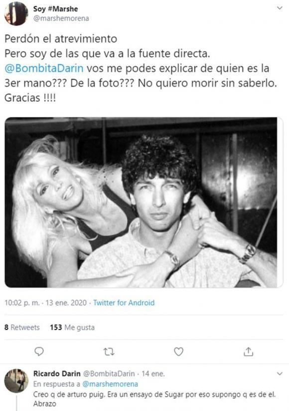 """Ricardo Darín y la verdad detrás de una misteriosa foto retro con Susana Giménez: """"La tercera mano es de Arturo Puig"""""""