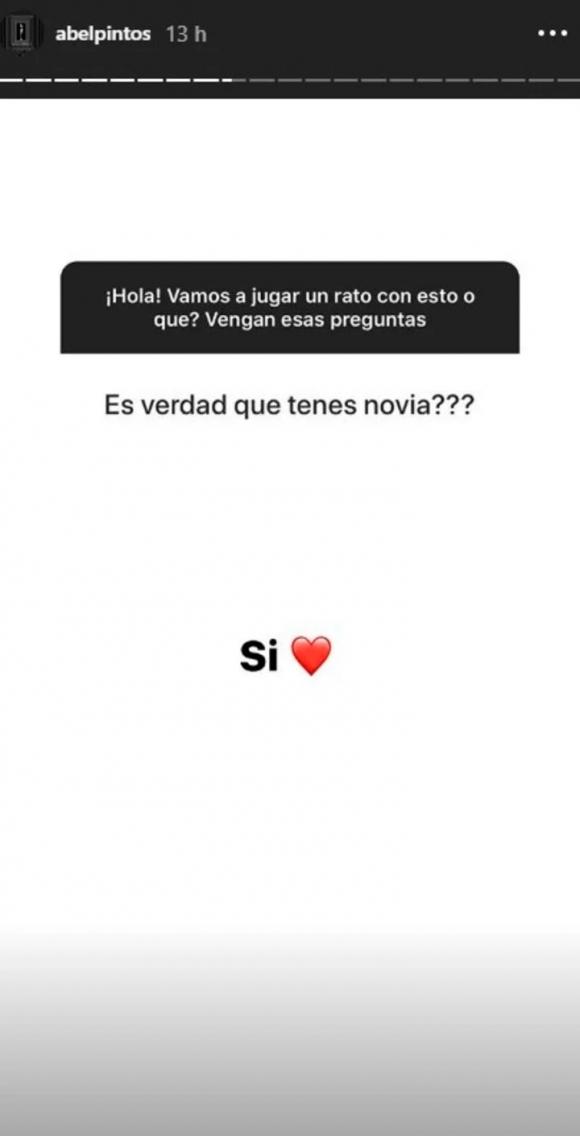 """Abel Pintos confirmó su romance secreto con Mora Calabrese: """"Sí, estoy de novio"""""""