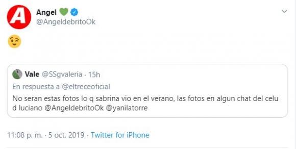 Contundente tweet de Ángel de Brito sobre las fotos hot de Luciano Castro y la fuerte crisis con Sabrina Rojas