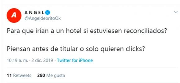 """De Brito, irónico con las versiones de una reconciliación de la China y Vicuña: """"¿Para qué irían a un hotel?"""""""