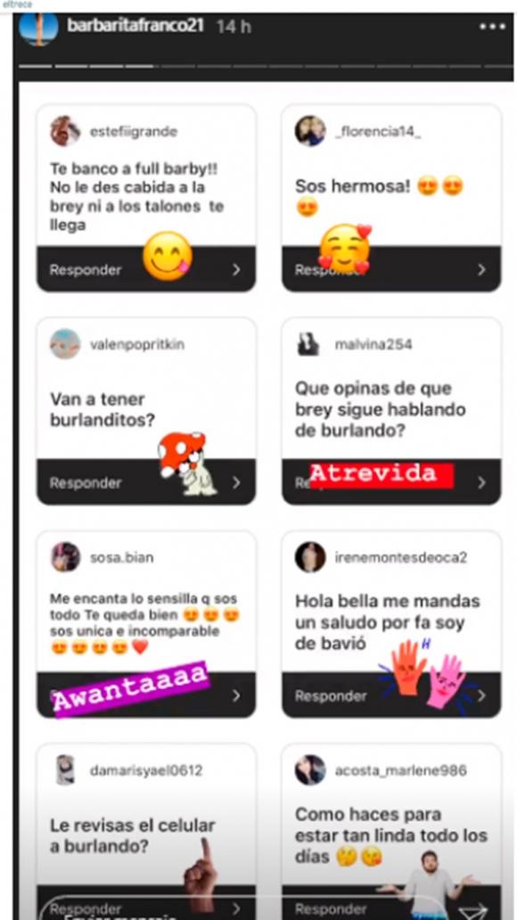 """El polémico posteo de Barby Franco contra Mariana Brey por su nota a Burlando: """"Esta es Santa Rita, trepa"""""""