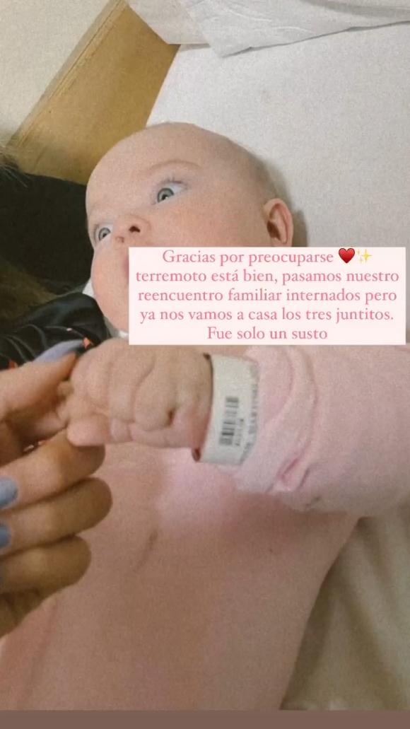 """Lautaro Martínez habló de la internación de su beba de cinco meses: """"La gorda está bien; solo fue un susto"""""""