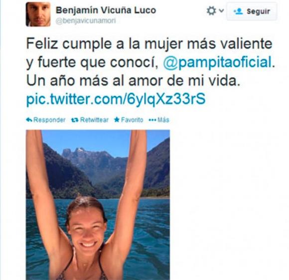 La peculiar coincidencia en el romántico mensaje de Vicuña a la China Suárez… ¡con un adjetivo muy especial que le dedicaba a Pampita!