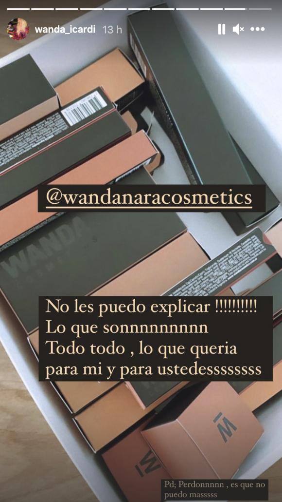 """Wanda Nara compartió un adelanto de su nuevo emprendimiento fashion de maquillajes: """"Todo lo que quería"""""""
