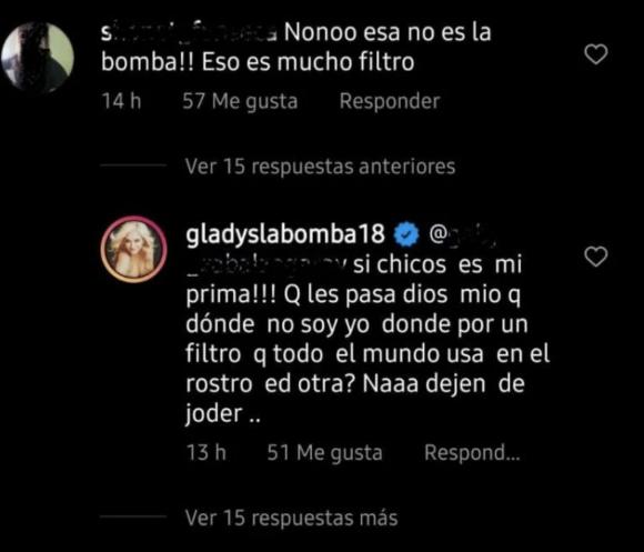 """Gladys La Bomba Tucumana se cruzó con un seguidor que la criticó por los filtros de sus fotos: """"Todo el mundo los usa"""""""