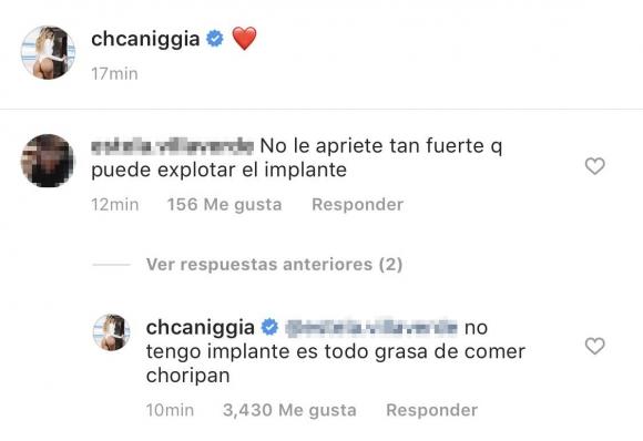 """Charlotte Caniggia y su foto hot con su novio, Roberto Storino Landi: """"Es todo grasa de comer choripán"""""""