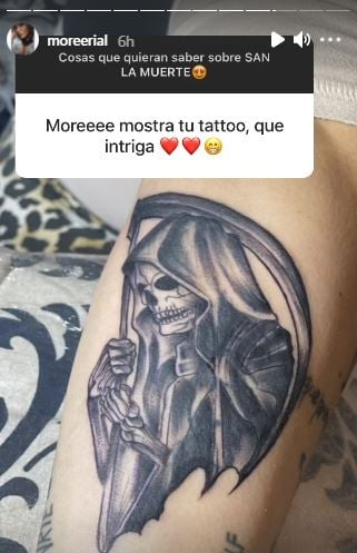 "More Rial explicó por qué se tatuó a San La Muerte: ""Le hice una promesa"""