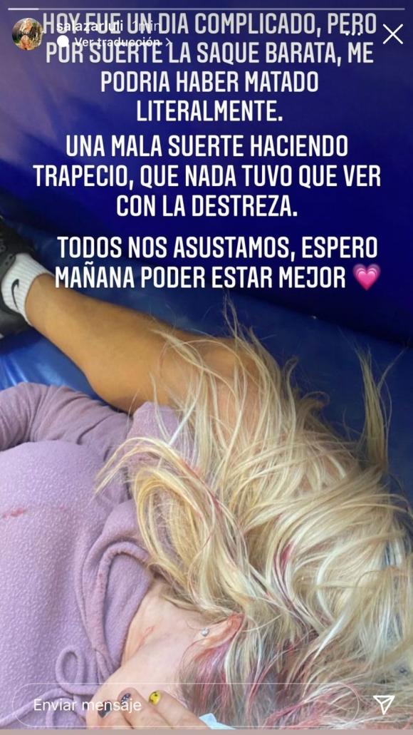 """Luciana Salazar sufrió un fuerte accidente ensayando para La Academia: """"Entré en shock"""""""