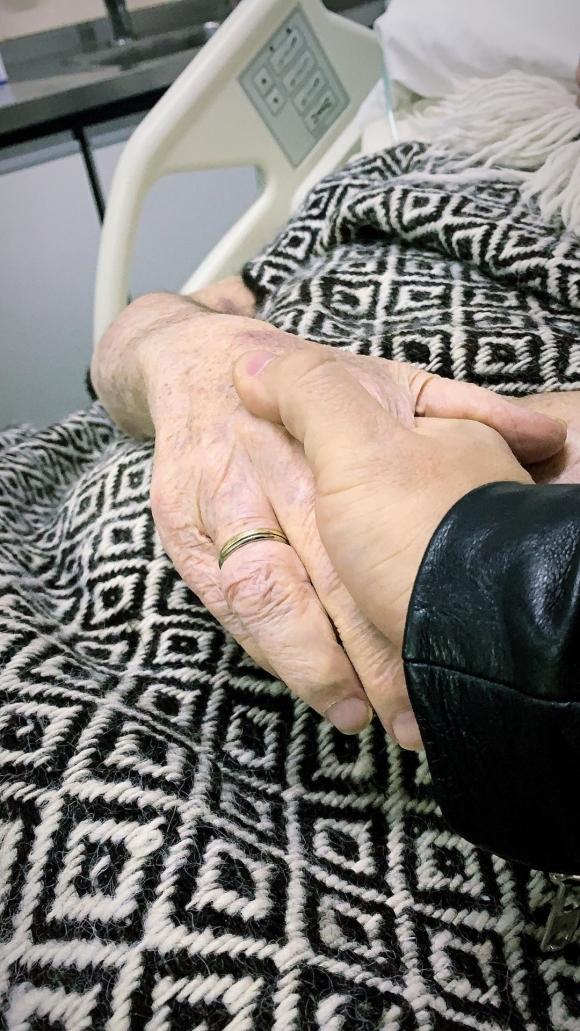 La conmovedora foto de Fede Bal junto a su papá Santiago desde terapia intensiva