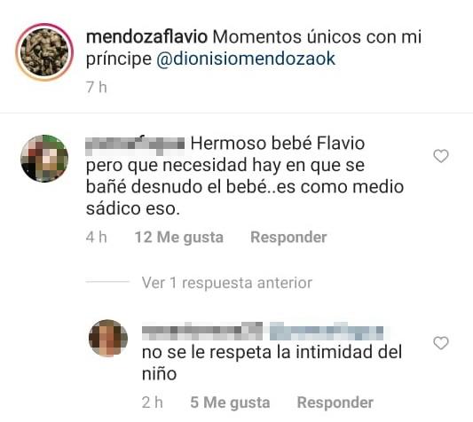 """Flavio Mendoza subió un video de su hijo desnudo en una pileta y le llovieron duras críticas: """"Innecesario"""""""
