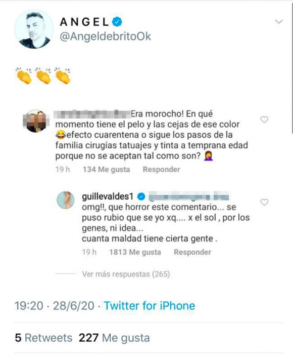 """Fuerte respuesta de Guillermina Valdés ante las críticas de una seguidora a su familia con Tinelli : """"Cuánta maldad"""""""
