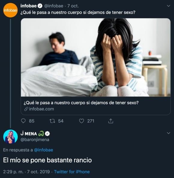 """La picante frase de Jimena Barón sobre la falta de sexo: """"Mi cuerpo se pone bastante rancio"""""""
