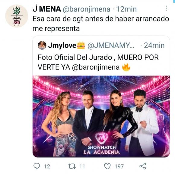 """El sincericidio de Jimena Barón al ver su foto con el jurado de La Academia: """"Esa cara de 'ogt' antes de haber arrancado me representa"""""""