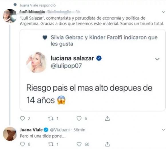 """Luciana Salazar, tras el palito de Juana Viale: """"Me llamó la atención que le preste más atención a eso, que al problema"""""""