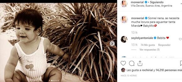Morena Rial publicó un fuerte posteo sobre su difícil niñez: las reacciones de Jorge y Loly Antoniale