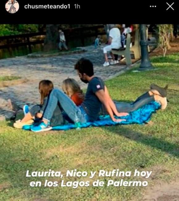 La tarde de Laurita Fernández y Nicolás Cabré en el parque con Rufina tras su reconciliación