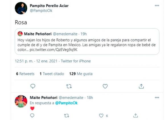 """¡Ya sabrían el sexo! Fuerte revelación sobre el embarazo de Pampita: """"Las amigas le regalaron ropa de bebé de color rosa"""""""
