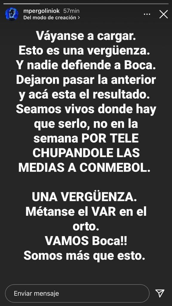 """La furia de Mario Pergolini por el gol anulado a Boca y su eliminación de la Copa Libertadores: """"Vergüenza"""""""