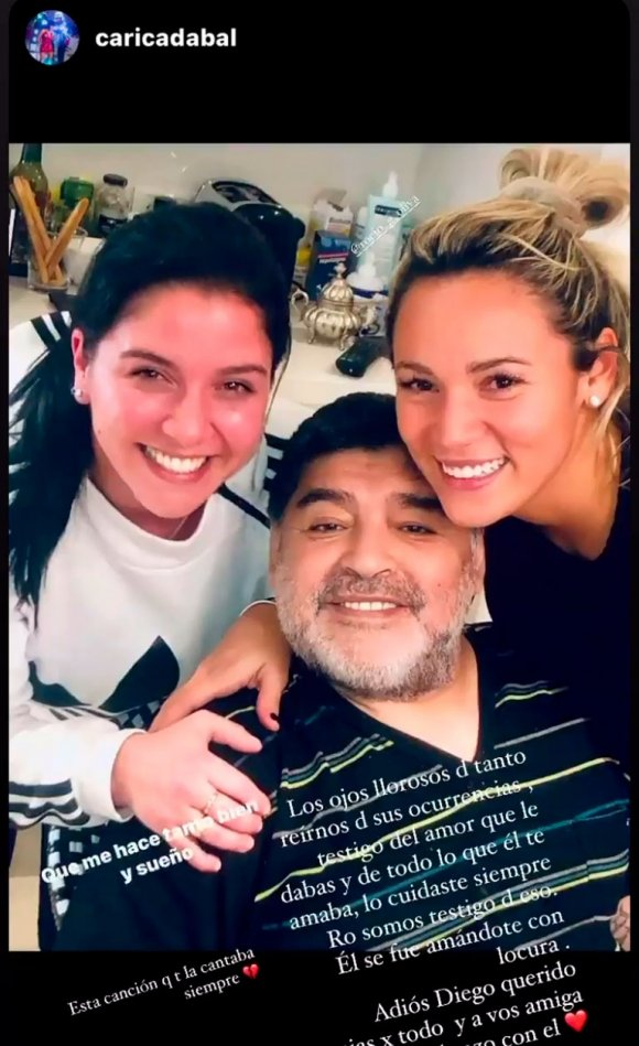 """Fuertes posteos de Rocío Oliva luego de que le prohibieran entrar al velorio de Diego Maradona: """"Contra los sentimientos nadie puede"""""""