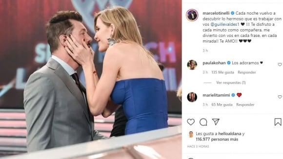 """Contundente mensaje de Marcelo Tinelli a Guillermina Valdés tras su tenso cruce en ShowMatch: """"Te disfruto a cada minuto como compañera"""""""