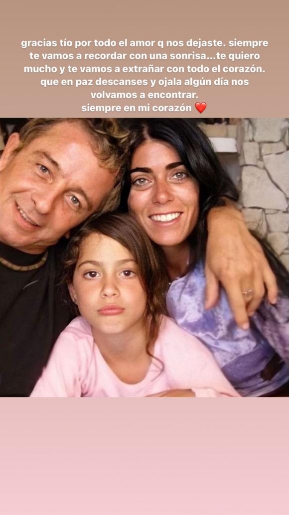 """Conmovedor mensaje de Tini Stoessel tras la muerte de su tío: """"Ojalá algún día volvamos a encontrarnos"""""""