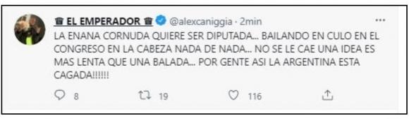 "Fuerte mensaje de Alex Caniggia contra Cinthia Fernández por su candidatura política: ""Por gente así la Argentina está cagada"""